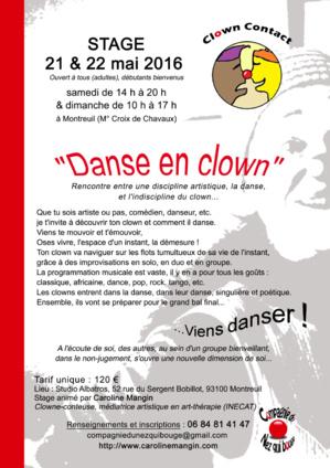 Stage Danse en clown